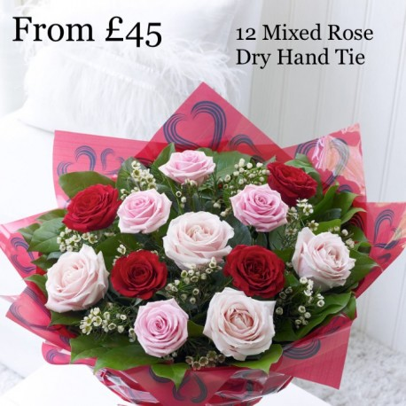 Mixed Rose Dry Hand Tie