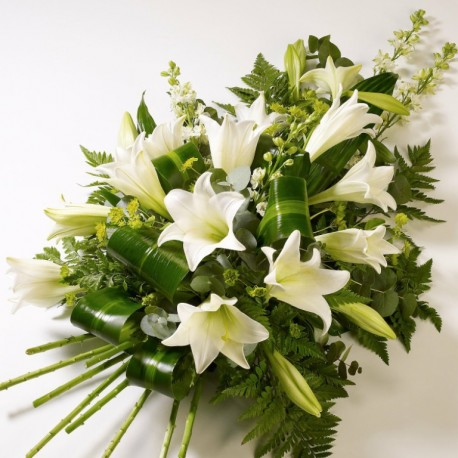 White Lily Tied Sheaf