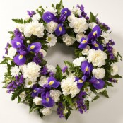 Blue & White Wreath
