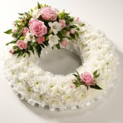 Pink Blocked Wreath